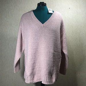MICHAEL MICHAEL KORS Pink Sparkle Sweater, size 2X